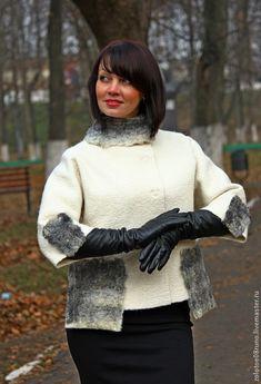 Textiles, Fibre Textile, Nuno Felting, Leather Gloves, Leather Fashion, Clothing Patterns, Wool Felt, Vintage Fashion, My Style