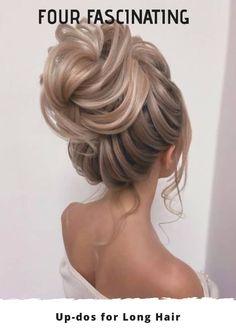High Bun Hairstyles, Office Hairstyles, Easy Hairstyles For Long Hair, Bride Hairstyles, Stylish Hairstyles, Hairstyles Videos, Hairstyle Short, School Hairstyles, Easy Updos For Medium Hair