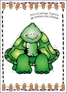 Menta Más Chocolate - RECURSOS PARA EDUCACIÓN INFANTIL: Sesión de PSICOMOTRICIDAD Clipart, Preschool Poems, Dj Inkers, Pattern Coloring Pages, Printable Pictures, Turtle Love, Language Activities, Learn To Read, Games For Kids