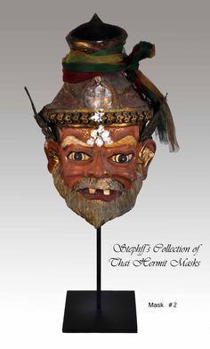 Stephff's collection of thai hermit masks ( Ruesi Por gae ) Hermit number 2