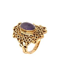 Splendid Gold Plated Ring With A Purple Stone | Rs. 370 | http://voylla.com