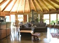Build your own round dream home! Eco-friendly round house plans & custom prefab home kits with panoramic views & luxury timber accents. Prefab Home Kits, Prefab Homes, Round House Plans, Yurt Home, Yurt Living, Casa Loft, Natural Homes, Kit Homes, Next At Home