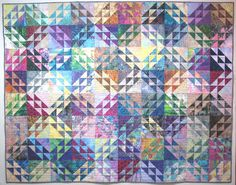 Exuberant Color : Quilts made with triangles northwind pattern Batik Quilts, Scrappy Quilts, Mini Quilts, Quilting Projects, Quilting Designs, Quilting Ideas, Quilting Blogs, Patchwork Designs, Sewing Projects