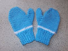 Ravelry: Easy 2-needle toddlers & childs mittens pattern by marianna mel