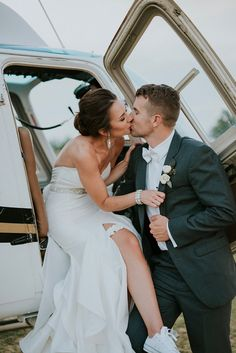 The Groom of This Elegant Farm Wedding Is a Pilot, So Naturally They Flew Off in a Helicopter Pilot Wedding, Wedding Car, Wedding Book, Friend Wedding, Farm Wedding, Wedding Photos, Airport Wedding, Wedding Bells, Wedding Ceremony