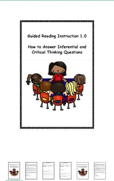 FREEBIE - Guided Reading Instruction on Answering Question
