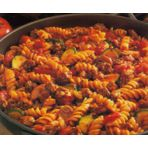 It's so easy to dish up a great dinner with this simple, one-skillet recipe that combines seasoned ground beef, pasta and vegetables.