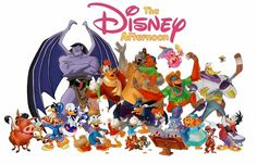 """""""The Disney Afternoon"""" OMG I used to LOVE these: Tailspin, Chip and Dale, Gummi Bears, oh my!"""