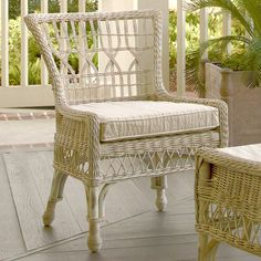 I pinned this Viola Wicker Arm Chair from the Paula Deen Home event at Joss and Main! Serve a farm-fresh Sunday dinner or catch up with the neighbors over spring-time cocktails in this charming chair from Paula Deen, perfect for bringing Low Country elegance to your dining table or living room conversation grouping.