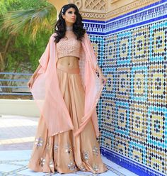 "238 Likes, 4 Comments - IndiaBoulevard (@indiaboulevard) on Instagram: ""Dressed like a daydream✨ @roshinidaswani in a #custom @indiaboulevard cape outfit.…"""