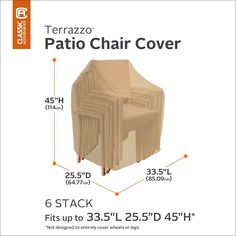 Plastic Chair – Classic Accessories Terrazzo Stackable Patio Chair Cover – All Weather Protection Outdoor Furniture Cover… Outdoor Furniture Covers, Furniture Sets, Camping Chairs, Terrazzo, Classic, Weather, Storage Room, Image Link, Design