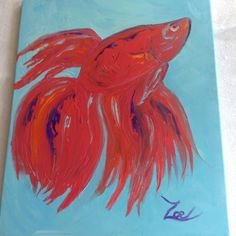 Beta Fish. Zoe Kelly-Soldner. Oil on canvas.
