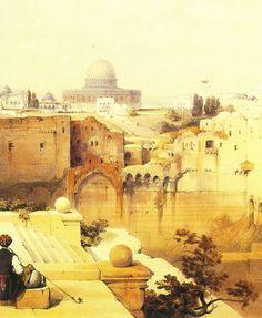 Veduta di Gerusalemme, pittura di David Roberts.