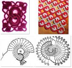 "Patrones Crochet: Punto ""Ochos"" en Crochet Patron"