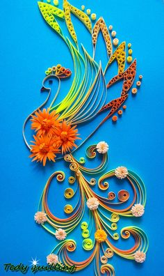 Quilling picture PHOENIX Quilling Art quilling by HandmadeTedy
