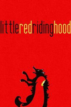 Little Red Riding Hood Minimalist Art Print