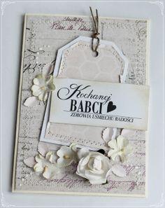Na Dzień Babci Beautiful Handmade Cards, Diy Cards, Cardmaking, Scrapbooking, Frame, How To Make, Inspiration, Ideas, Crafting