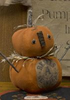 STACKED CANVAS PUMPKINS #9619