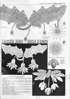 Blätter und Blüten häkeln Irish crochet motifs