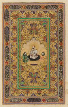 Imam Ali, and his two sons, Hasan and Husayn - Qajar period century) Qajar Dynasty, Harvard Art Museum, Art And Architecture, Islamic Architecture, Islamic Art Calligraphy, Historical Art, Book Of Shadows, Acrylic Art, Portrait Art