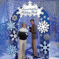 snowflake decorations for parties | Snowflake Party Arch