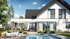 Projekt dom w felicjach 3 33998 Home Projects, Pergola, New Homes, Exterior, House Design, Facade, Outdoor Decor, Home Decor, Home