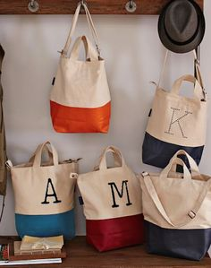 monogrammed canvas totes http://rstyle.me/n/s2vjhr9te