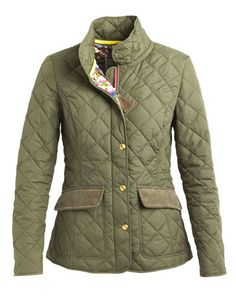 nice alternative to Barbour quilted jacket, love the lining variation between colours.