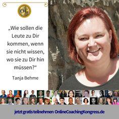 Tanja Behme ist Expertin wenn Du Dich als Therapeut auf die eigenen Beine stellen willst. Ihr wertvolles Wissen und ihre Erfahrungen teilt sie beim #OnlineCoaching Kongress im Interview. Jetzt kostenfrei anmelden: