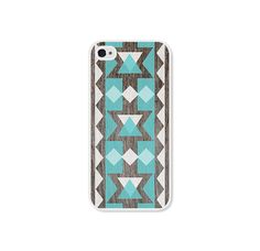 Geometric iPhone 5 Case - Plastic iPhone 5 Cover - Wood Tribal Southwest iPhone 5 Skin - Turquoise Brown White Cell Phone For Him