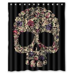 SEASIDESS Special Designed Sugar Skull Shower Curtains 60...