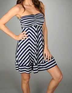 Ella Moss Strapless Striped Sundress  Now on ebay: savvysplurges