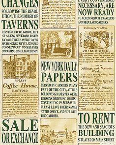 newspaper print fabric
