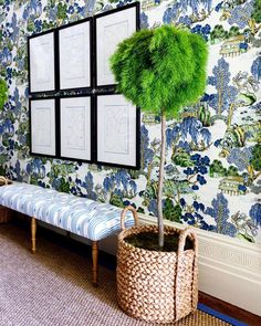 Asian Scenic Wallpaper by Thibaut Scenic Wallpaper, Fabric Wallpaper, Chinese Wallpaper, Blue And Green, Blue Rooms, Mural Painting, Maine House, Decor Styles, Living Room Decor