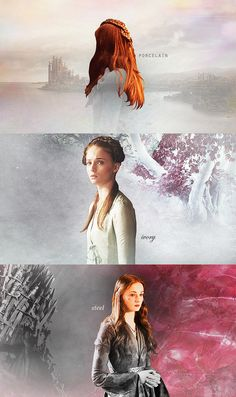 Fan Art of Sansa Stark for fans of Game of Thrones. My skin has turned to porcelain, to ivory, to steel.