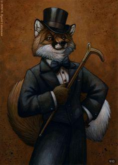 Dapper Fox by kyoht.deviantart.com on @deviantART