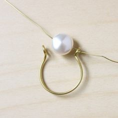 Wire Wrapped Pearl Ring-14