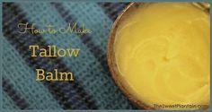 How to Make Tallow Balm   TheSweetPlantain.com קרם מחלב פרה או מכל מקור  שומן חי אחר