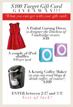 $100 Target Gift Card Giveaway at Life and Everything Else In-Between.  Ends 3/3/13