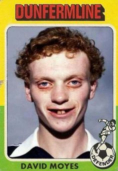 Awful, is the word to describe this early photo of David Moyes. Football Hair, Retro Football, School Football, Vintage Football, Football Soccer, Iran Football, Football Stuff, Football Images, Football Pictures