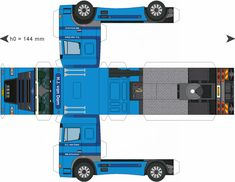 Free Download Paper Model Trucks   Trailer-Dam