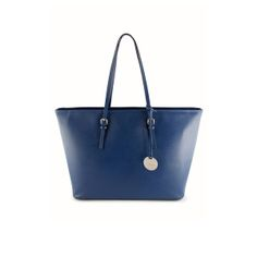 The Journey Tote Blue by Dicami. An elegant yet functional tote made from scratch resistant Italian Saffiano leather. Made in Italy using fine Italian leather. Italian Leather, Journey, Italy, Handbags, Tote Bag, Elegant, Blue, Fashion, Classy