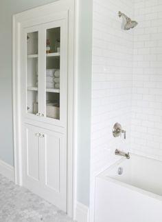 Beautiful storage in this bathroom! #MyMetrie
