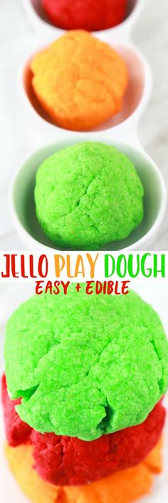 How to Make Homemade Jello Play Dough, DIY and Crafts, If you're looking for a fun and easy STEM activity with your children, this Edible Jello Play Dough is a perfect choice. Making homemade playdough is . Edible Sensory Play, Edible Slime, Edible Play Dough, Sensory Activities, Sensory Play For Babies, Sensory Rooms, Sensory Diet, Sensory Table, Children Activities