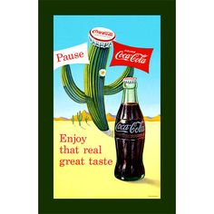 Trademark Commerce cokeW6369-C2414GG Coke Pause Cactus - 15 x 28 Inch Stretched Canvas Print
