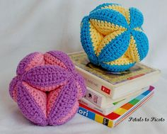 This cute clutch ball is one of my favorite gifts to make for a new baby
