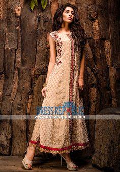 Almond banarsi jamawar dress features floral work