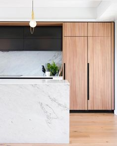 "Dot➕Pop Interiors - Eve Gunson on Instagram: ""All the good things - marble, black and oak ❤ Kitchen love by @minosa_design Photo @nicoleengland"""