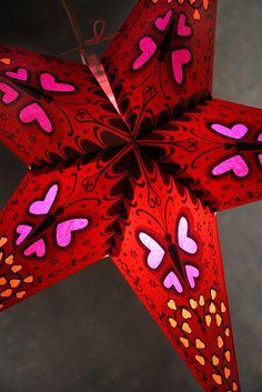 "Sara's room:  24"" Dark Star Red Butterfly Lanterns  $6.79 each  / 3 for $6 each"