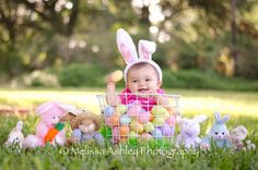 Baby Christmas Photos, Holiday Pictures, Cute Kids Pics, Easter Pictures For Babies, Baby Girl Poses, Easter Backdrops, Newborn Baby Photography, Newborn Pictures, Picture Ideas